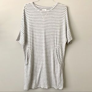 LOU & GREY Dolman Jersey Striped Pocket Dress M